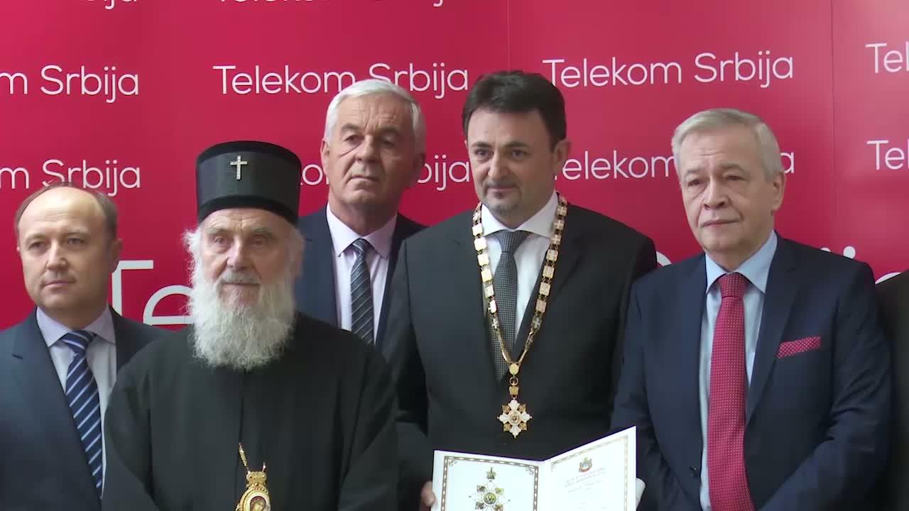 Kompaniji Telekom Srbija dodeljen Orden Svetog Save prvog stepena